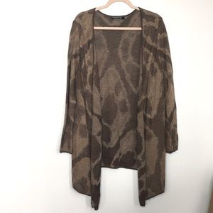 Peruvian Connection waterfall front cardigan sz L